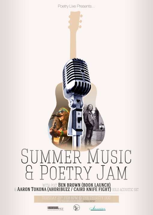 Summer Music & Poetry Jam Basic Flyer