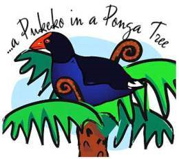 pukeko-in-a-ponga-tree